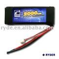 Li- polímero 7.4v 2000 20c mah de la batería
