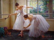 Realist people of ballerina oil painting on canvas