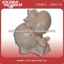 figurine porcelain cow with diamond