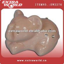ceramic elephant with rhinestone