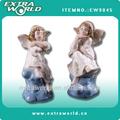 de cerámica sentado figuras de ángel