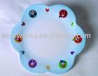 children flower shape plate