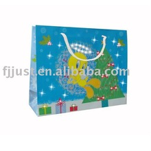 Flashing paper packaging shopping bag with led