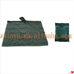PV-077Green high quality fashionable adult poncho rainwear