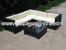 PE rattan garden sofa outdoor