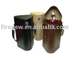Fake Leather Wine Carrier, Fauk Leather Wine Box