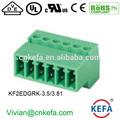 Kefa marque bornier 2 edg équivalent phénix. wago dinkle et ip67 connecteur circulaire