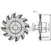 High precision saw milling cutter