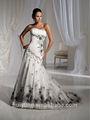 encolure dégagée balle sexy robe sans manches robe de mariée blanche en dentelle noire