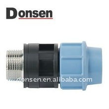 Male adaptor with brass/PP Compression fitting for Irrigation