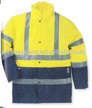 Vestuário de segurança refletivo jaqueta sem preenchimento e forro feito de 100% poliéster