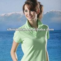 ladies' short sleeve 100 cotton polo shirt
