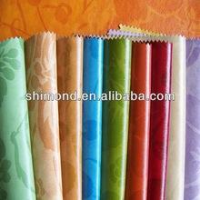 Flower Design Print Wet PU leather for bags & handbags