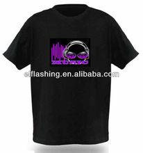EL earphone lighitng flashing T-shirt