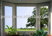 Aluminum tilt and turn windows with powder coated surface finishing
