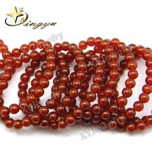 Natural Gemstone Beads Natural Red Agate Bead Bracelet