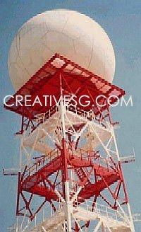 Hava radarı Kulesi yaratıcı. Askeri Kulesi. Radar kulesi VTS. Radar kulesi metorological Hava&