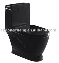 ceramic black color Washdown One-piece 4 inches outlet toilet