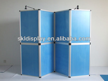 folded panel display stand