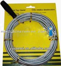 Metal drain pipe cleaner