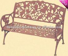 cast iron outdooor garden bench