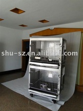 stainless steel dog cage(double layers)