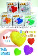 DIY crystal love heart wish flower magic love crystal flower