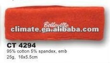 cotton terry sport emb. headband, fashion promotion
