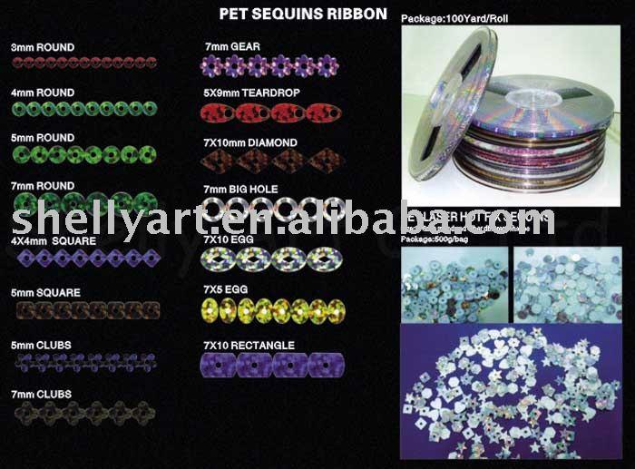 hot fix pet lentejuelas láser carrete 5mm láser de plata