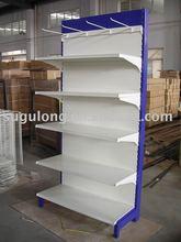 Singled-dided Supermarket&store display equipment/metal gondola storage shelf&rack system