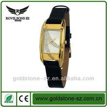 Lady elegant crystal quartz hand band watches high quality swiss leather original design 3atm waterproof watch dresses china
