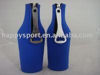 Neoprene bottle cooler,stubby holder,bottle holder with opener