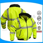 high visibility reflective safety jacket with long sleeves