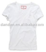 2012 small quantity ladies' 95% cotton 5% spandex t-shirt