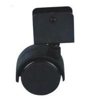 Furniture castor plastic black baby crib wheels