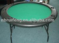 """48""""Round Green Felt Poker Table"""
