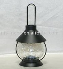 hot selling old style black glass and hanging iron oil camping lantern lamp
