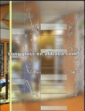 Decorative glass acid etching frosted glass