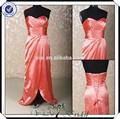 pp0166 frente aberta organza vermelho china baratos vestidosdedamadehonra 2015