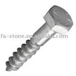 Din571 hexagon head wood screws