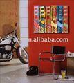 al aire libre arte de la lona pintura al óleo