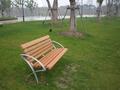 madera de plástico silla de jardín