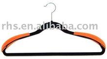 velvet hanger with shoulder pads