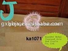 Pink cloth handmade steel frame heart hanging basket