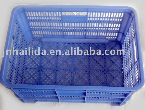 large fruit of blue plastic crate F-005
