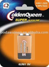 9V alkaline, dry battery