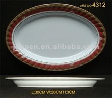 "12"" melamine oval soup plate"