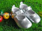 lovely silver sheepskin baby girl dress shoes