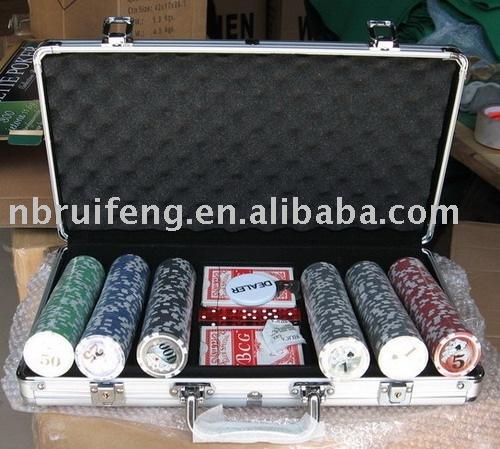 300 poker chip set with alu. case