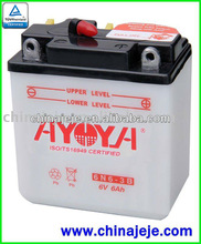 Dry Charged Motorcycle Battery 6N6-3B 6V6AH